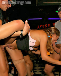 Many drunk chicks nailed hardcore at a horny orgy party