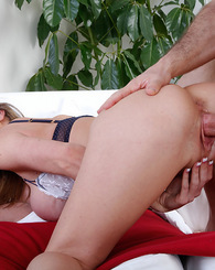 Kayla Paige works up a sweat by fucking the repair man.